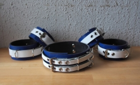 Double collar(二重首輪)Blue and white